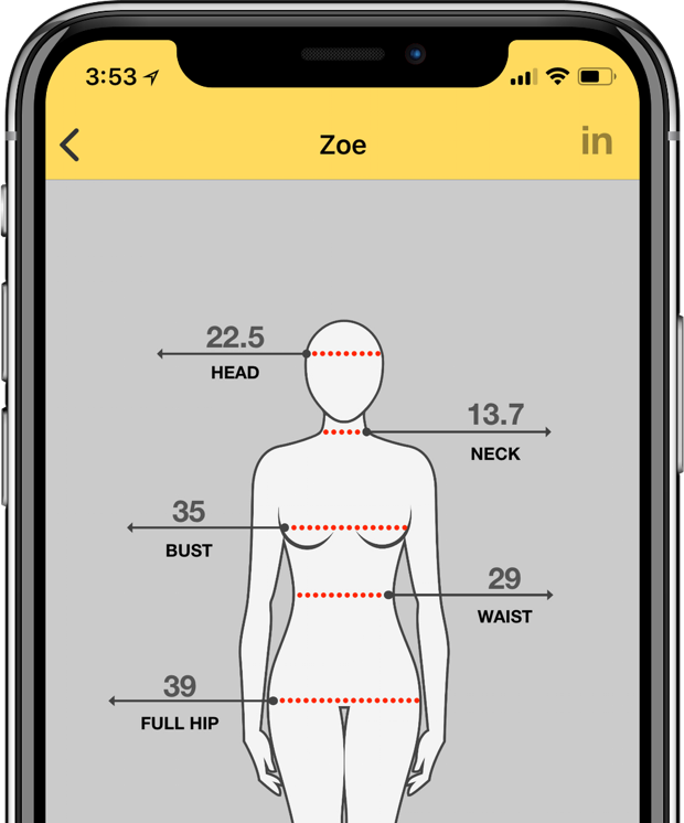 Dress Measurement | Custom Clothing Measurements on your Phone